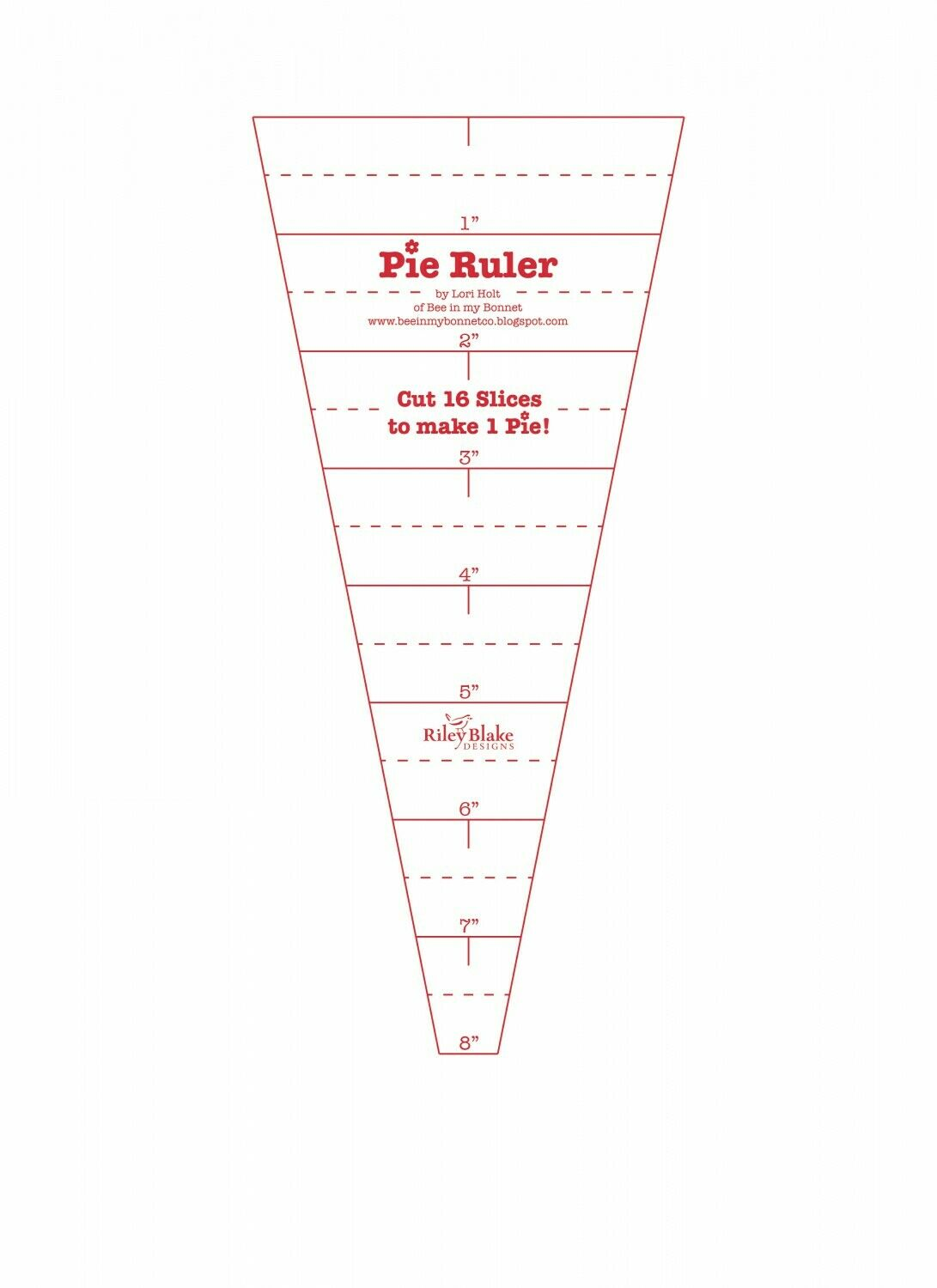 Pie Ruler by Lori Holt 8 inches and 22-1/2 Degrees