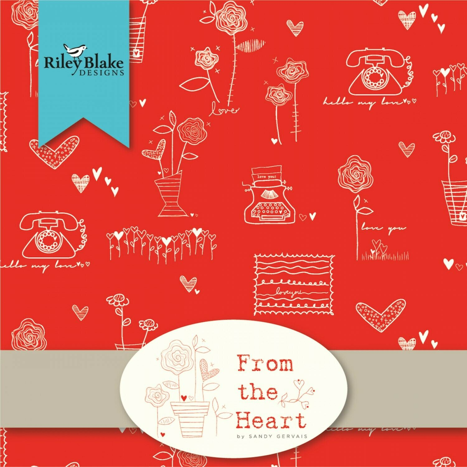 From the Heart 10 Stacker Fabric by Riley Blake