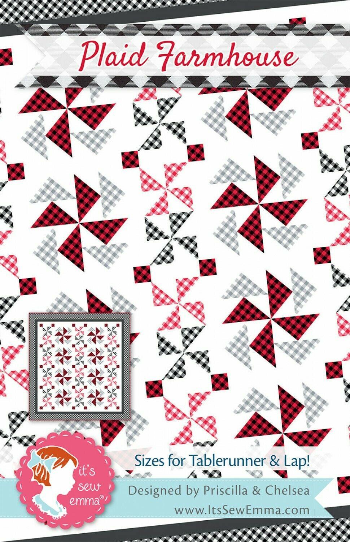 Plaid Farmhouse Quilt Pattern It's Sew Emma