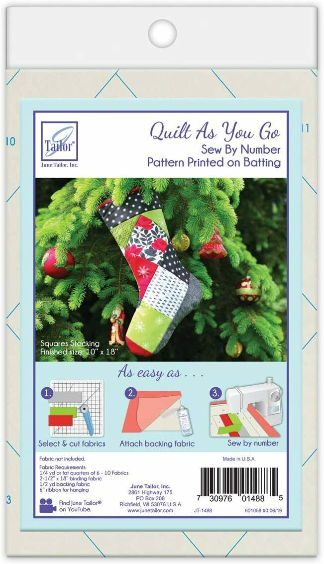 Quilt As You Go Holiday Stockings Sew By Number by June Tailor
