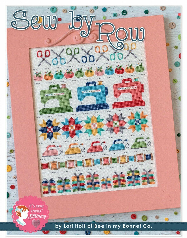 Sew By Row Cross Stitch Pattern with DMC Threads by Lori Holt