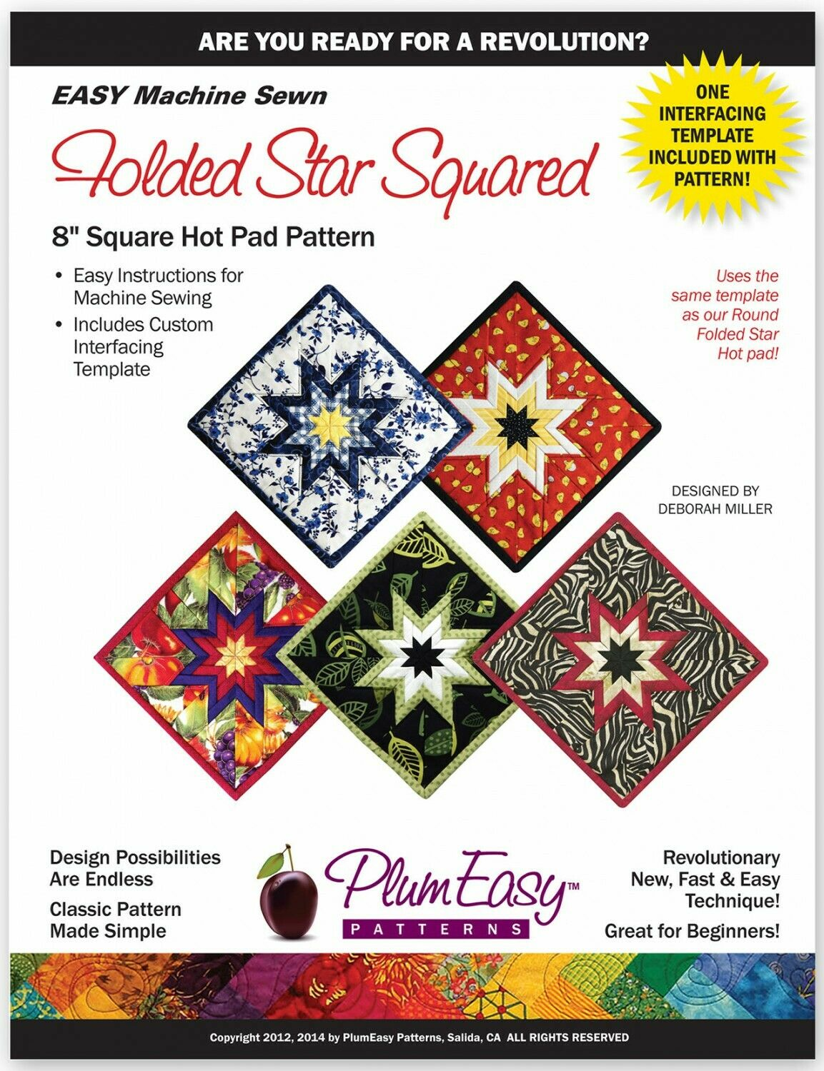 Folded Star Square Hot Pad 8 Pattern by Plum Easy