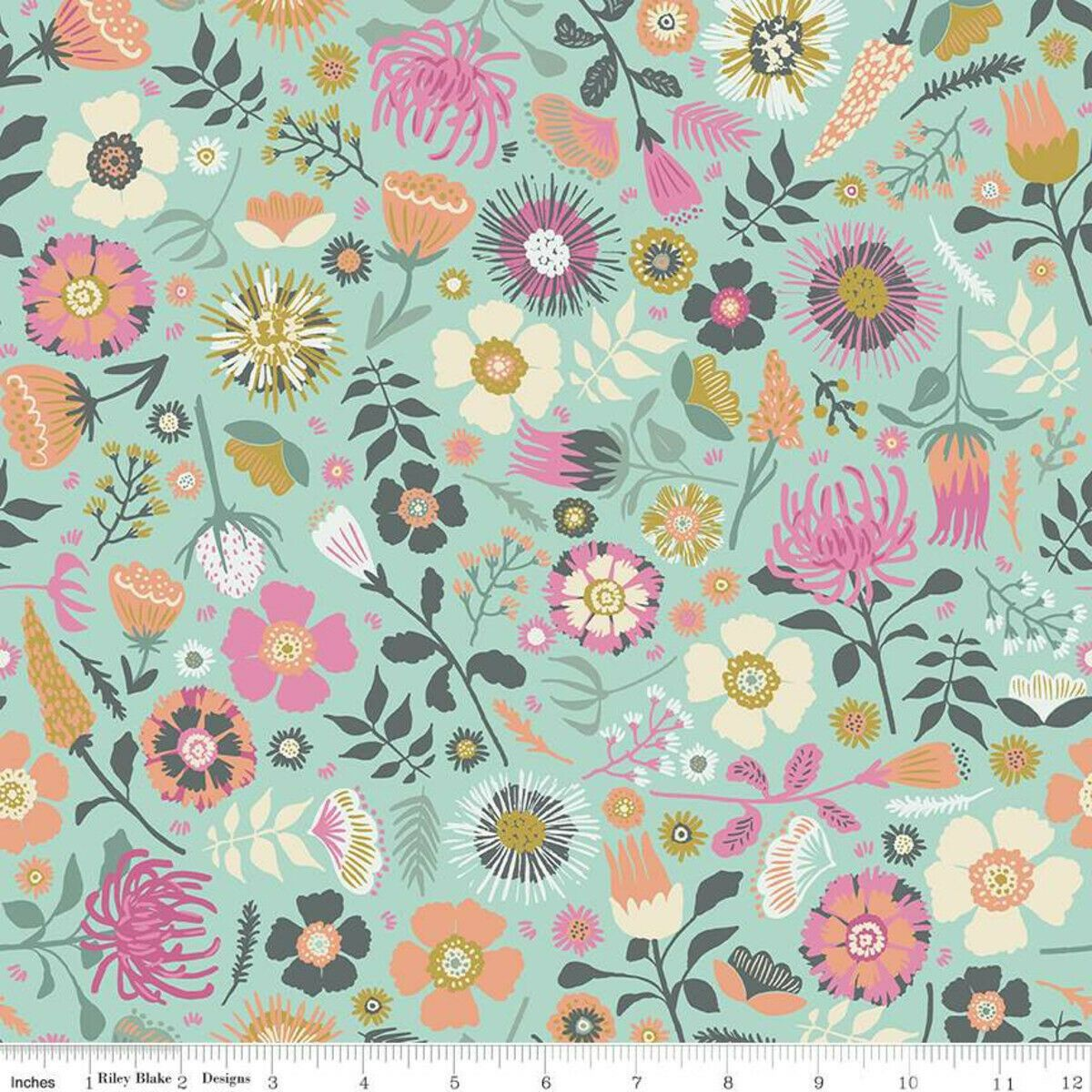 Meadow Lane Main Fabric Mint by Riley Blake SBY