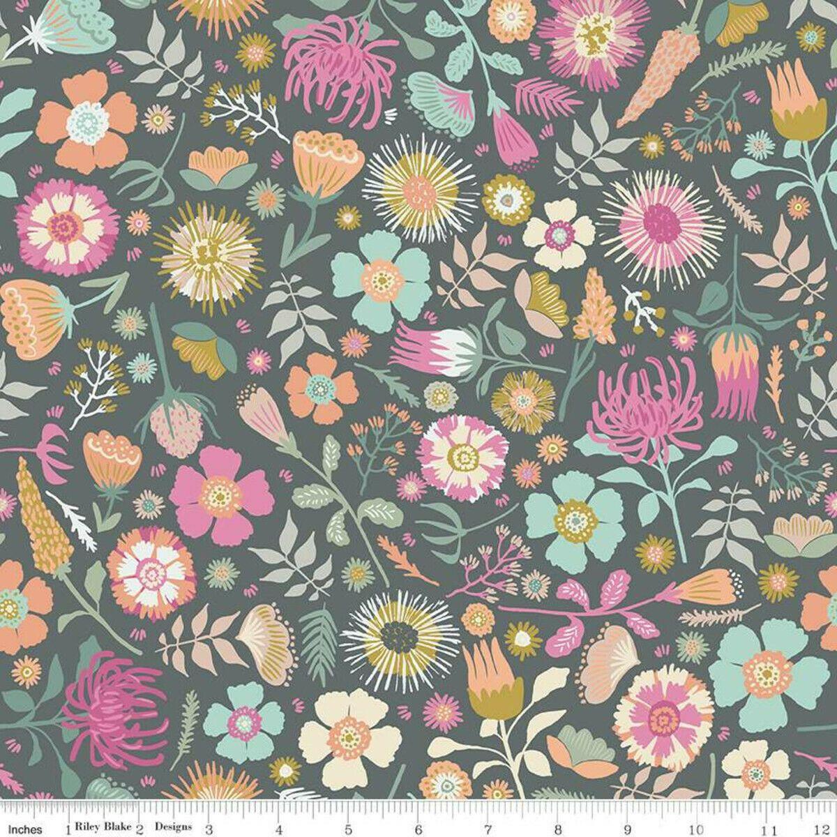 Meadow Lane Main Gray Fabric by Riley Blake SBY