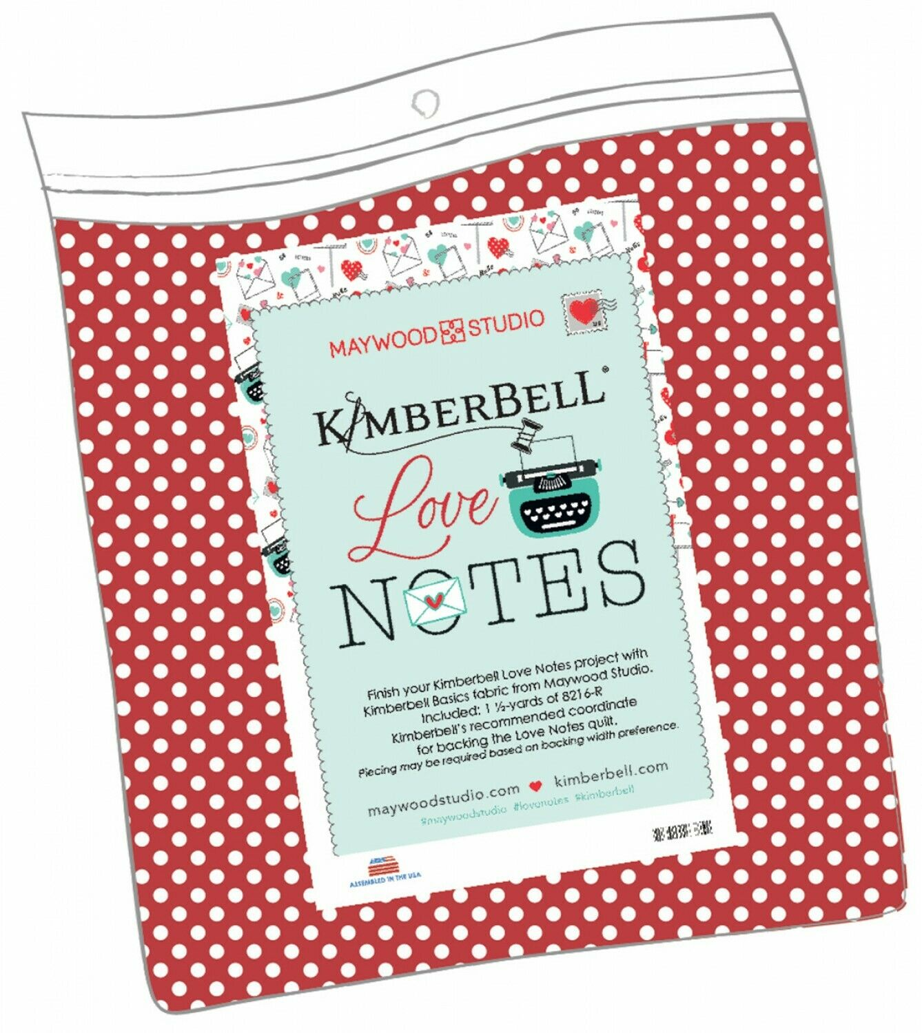 Love Notes Backing Fabric by Maywood Studio