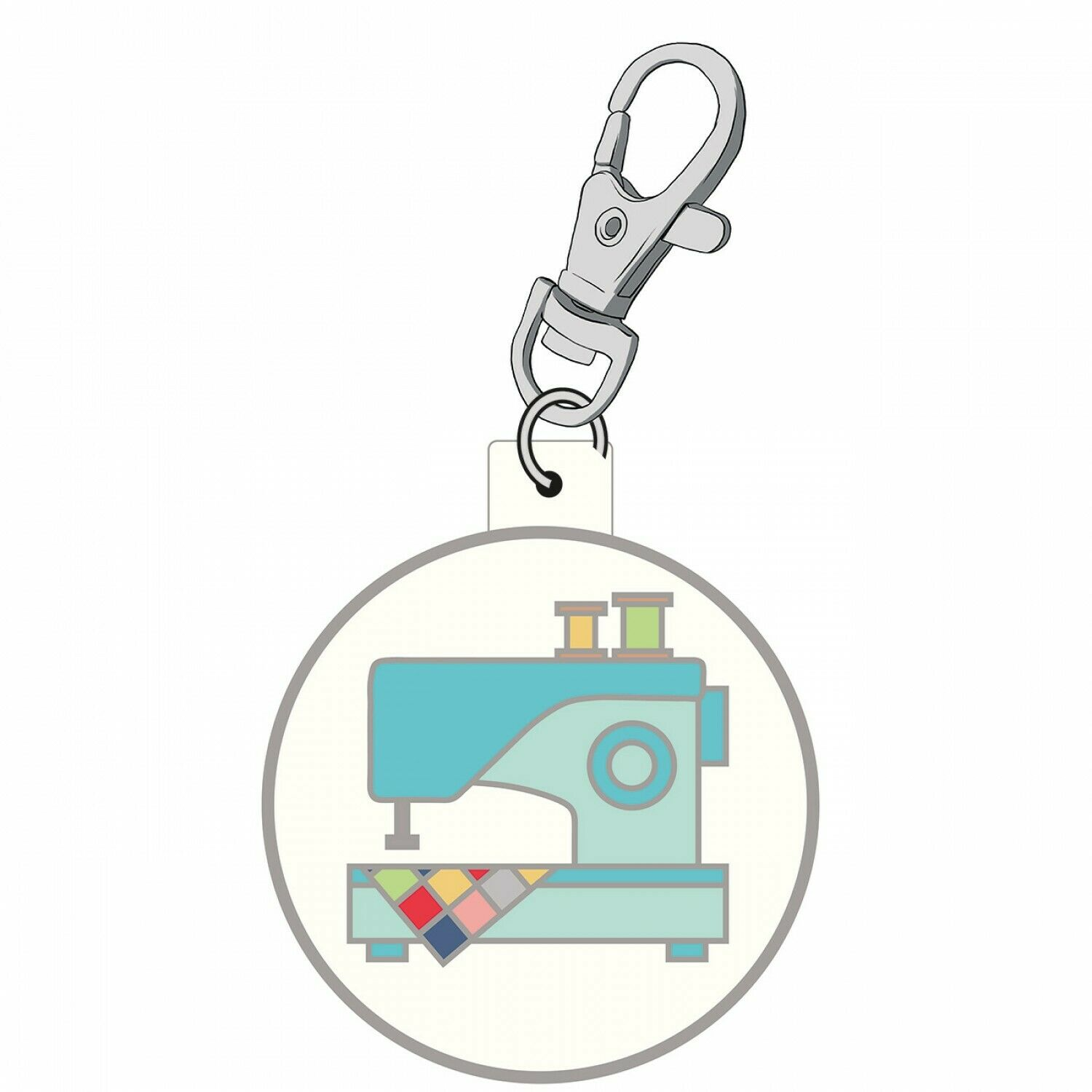 Enamel Charm My Happy Place by Lori Holt Sewing Machine