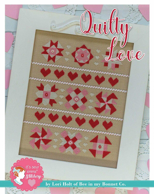 Quilty Love Cross Stitch Pattern w / DMC thread by Lori Holt