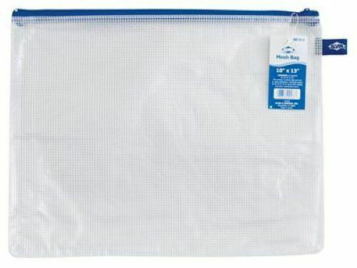 MESH BAG by Alvin 10 x 13 Blue Zipper