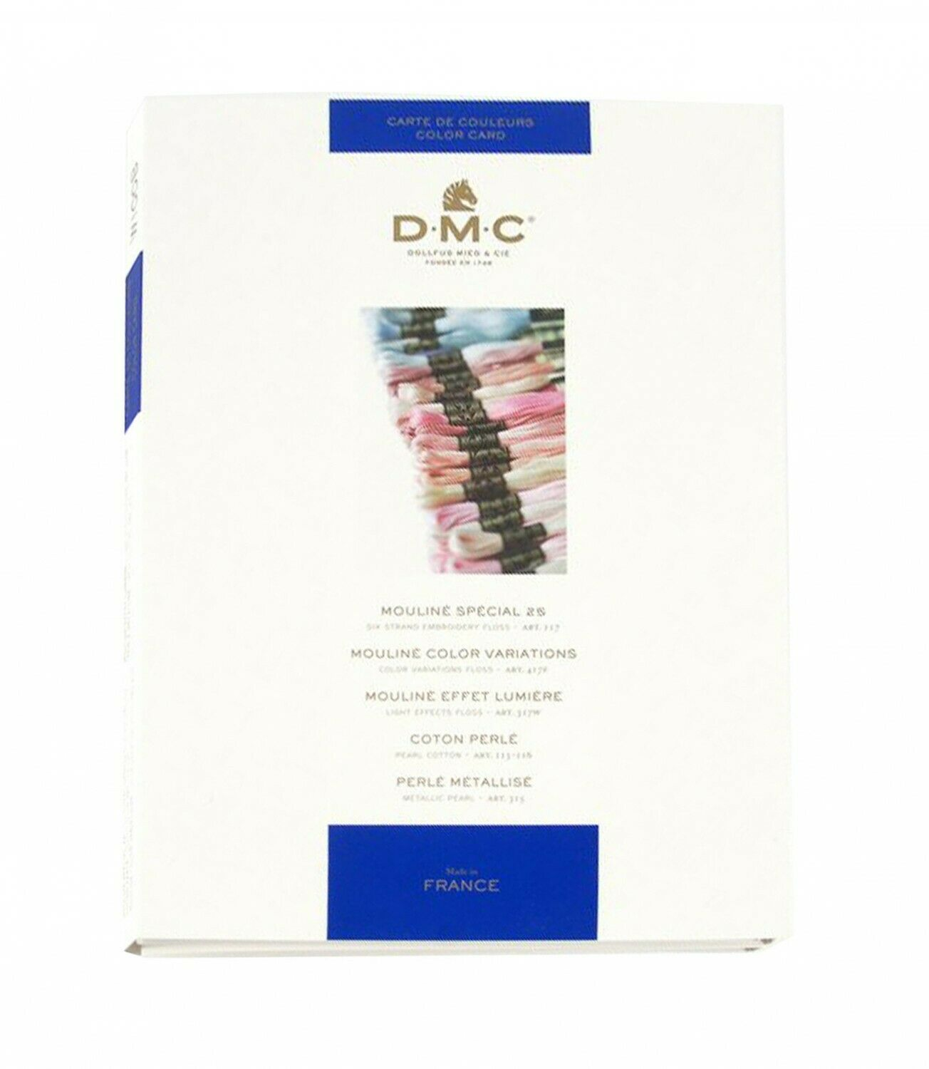 DMC Cross Stitch and Embroidery Thread Color Card