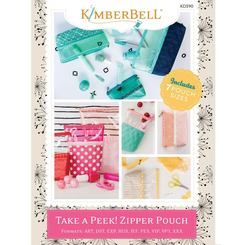 Take A Peek! Zipper Pouch ME CD by Kimberbell Designs
