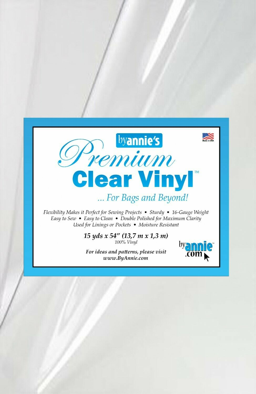 CLEAR VINYL 16 Gauge 36 x 54 By Annie
