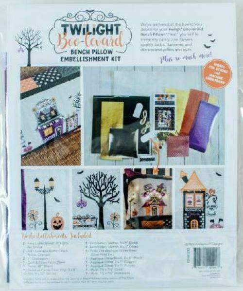 Twilight Boo-Levard Bench Pillow Embellishment Kit by Kimberbell Designs