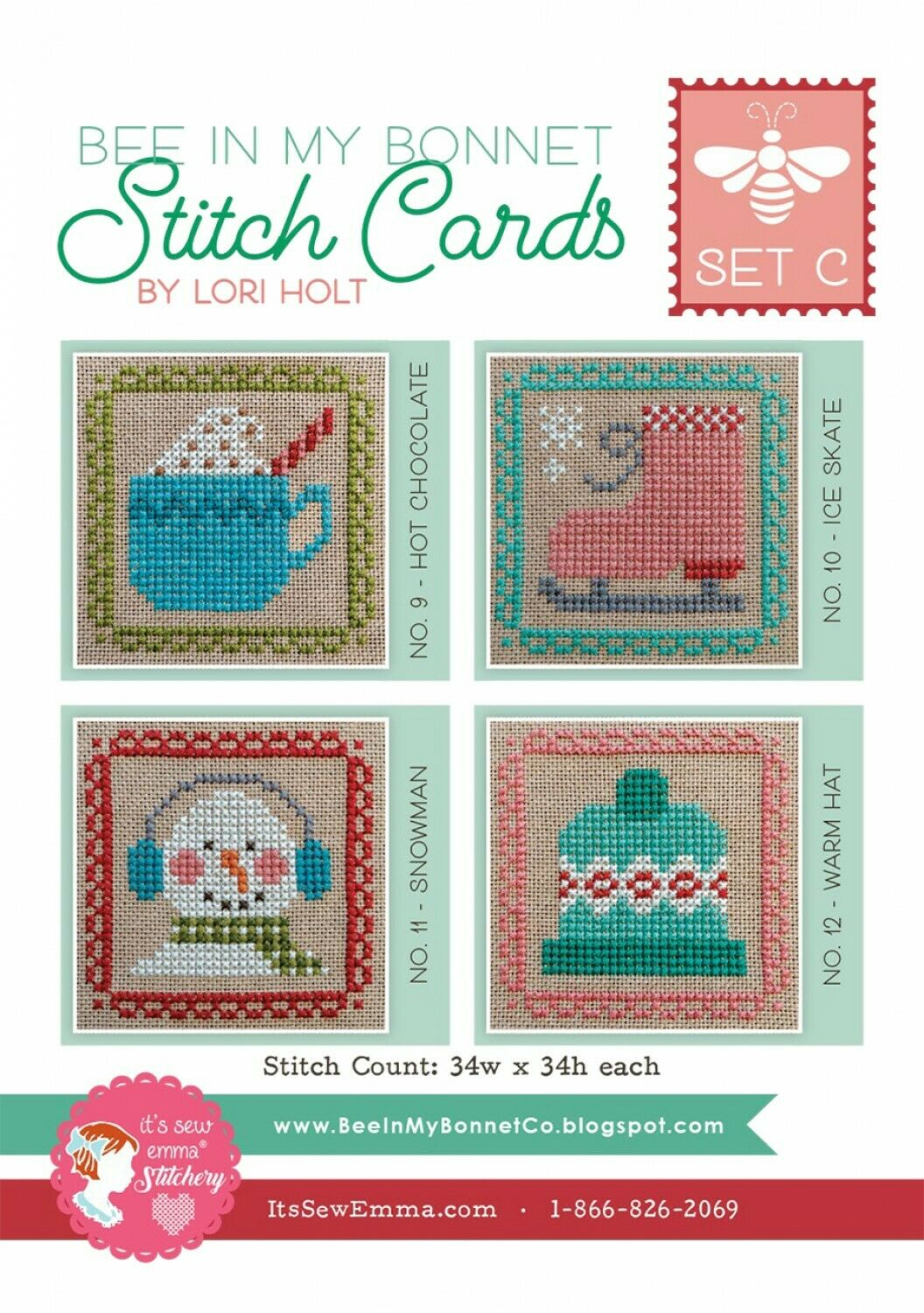 STITCH CARDS SET C by Lori Holt of Bee in my Bonnet
