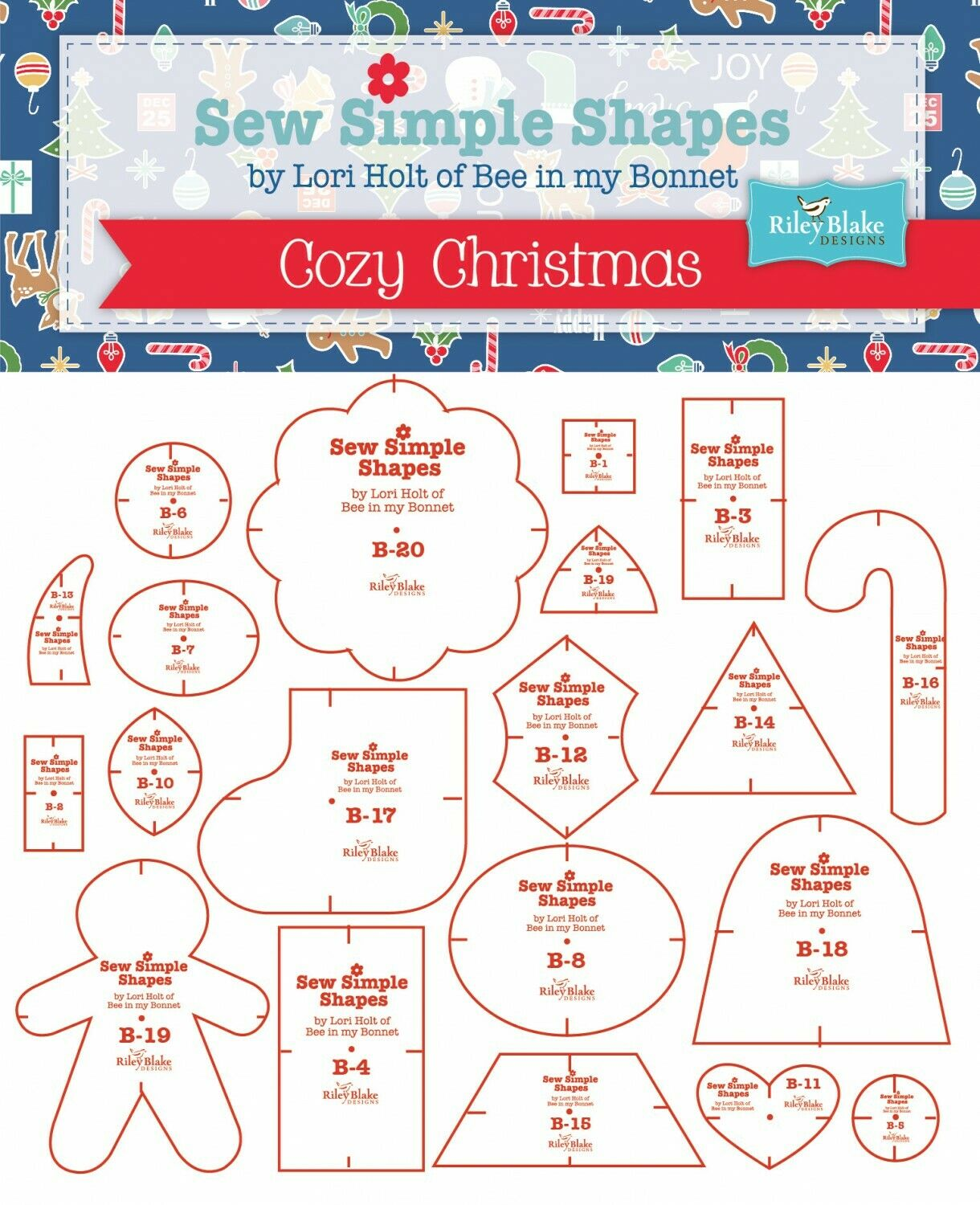 Sew Simple Shapes Cozy Christmas Templates (20) by Lori Holt