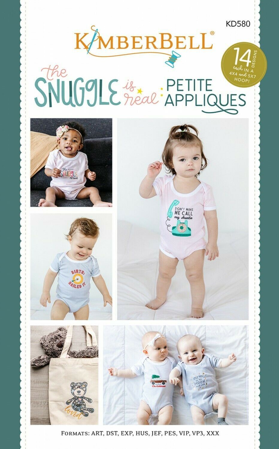 Snuggle is Real: Petite Appliques CD by Kimberbell