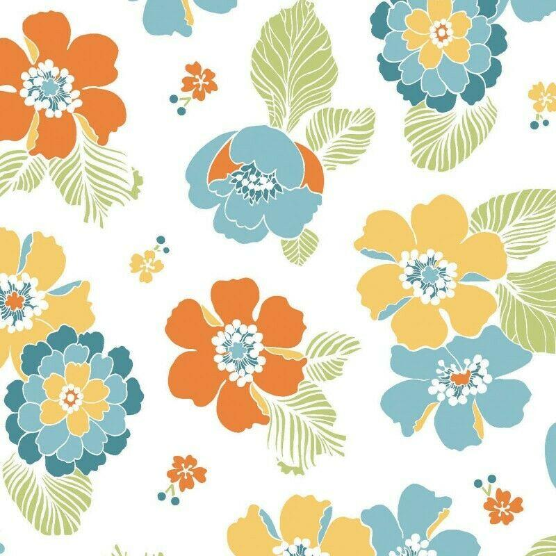 Carnaby Street Fabric by Maywood Studio Sold by the Yard (White)
