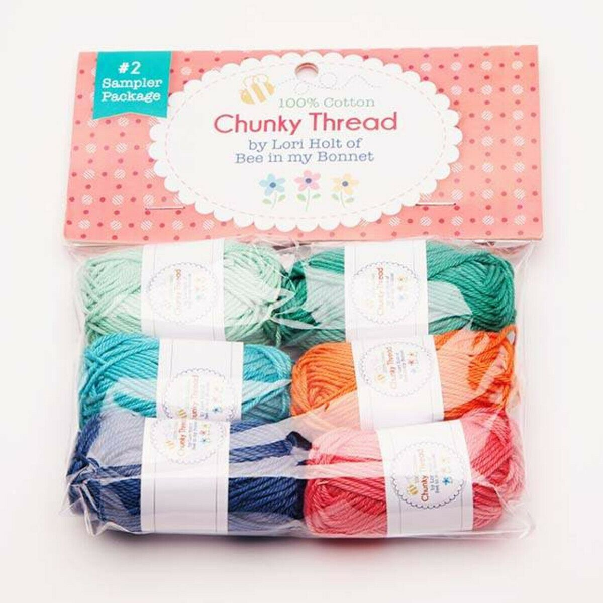 Chunky Thread 100% Cotton #2 Sampler Package by Lori Holt of Bee in my Bonnet