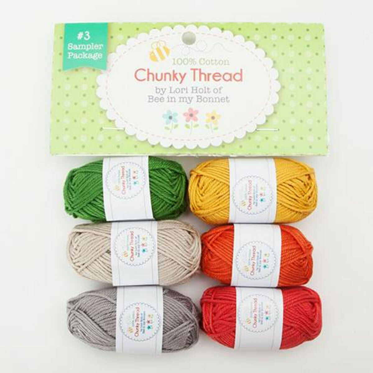 Chunky Thread by Lori Holt Sample Package #3 100% Cotton