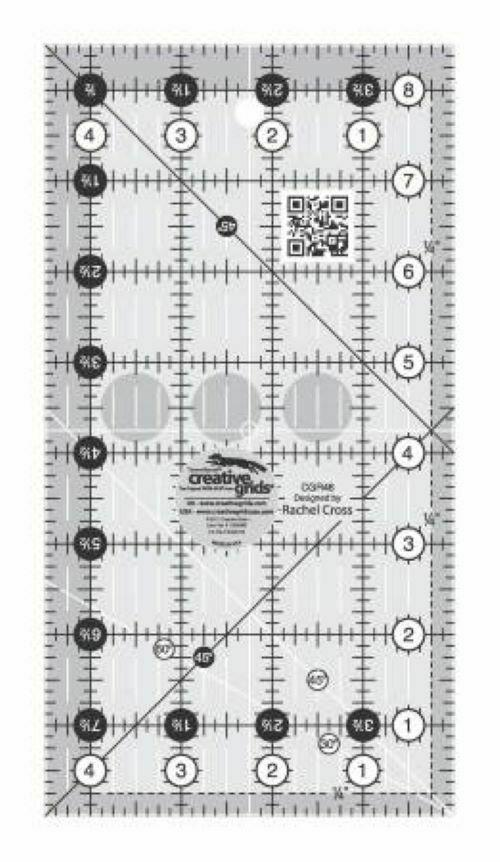Creative Grids Quilt Ruler 4 1/2 x 8 1/2 No Slip CGR48