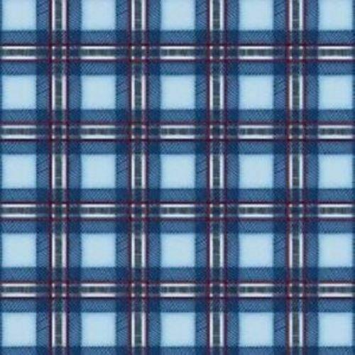 Cozy Cabin Blue Plaid Cotton Fabric by Maywood Studio  SOLD BY THE YARD