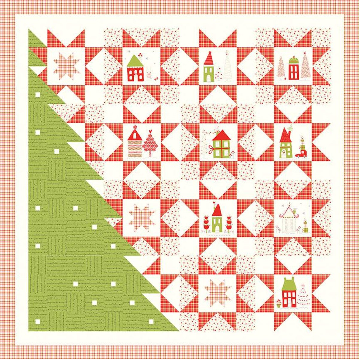 A Merry Little Christmas Quilt Boxed Kit by Sandy Gervais