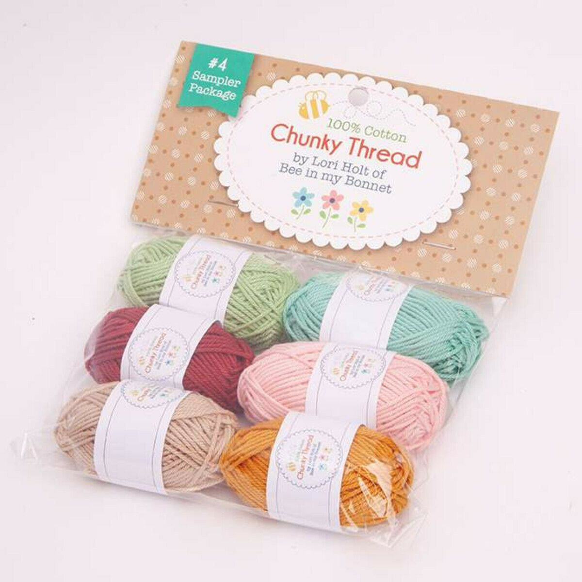 Chunky Thread Sampler Package #4 by Lori Holt (Pack of 6)