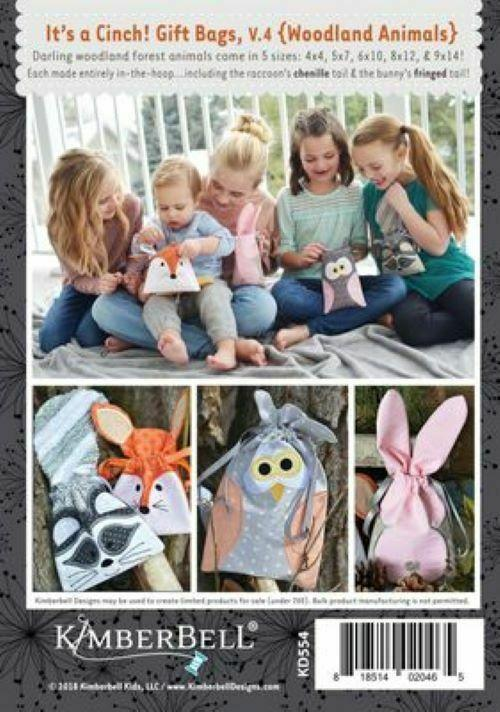 IT'S A CINCH GIFT BAGS VOLUME 4 WOODLAND ANIMALS ME CD by Kimberbell