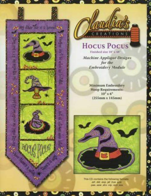CLAUDIA'S CREATIONS -HOCUS POCUS ME APPLIQUE DESIGNS CD