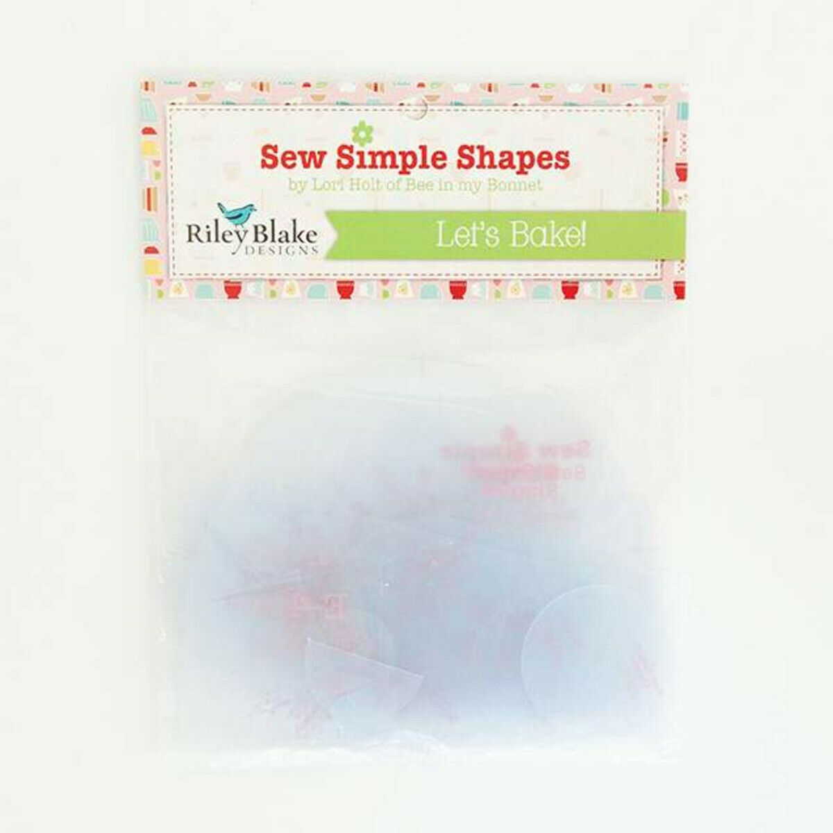 Lori Holt Let's Bake Sew Simple Shapes Clear Plastic