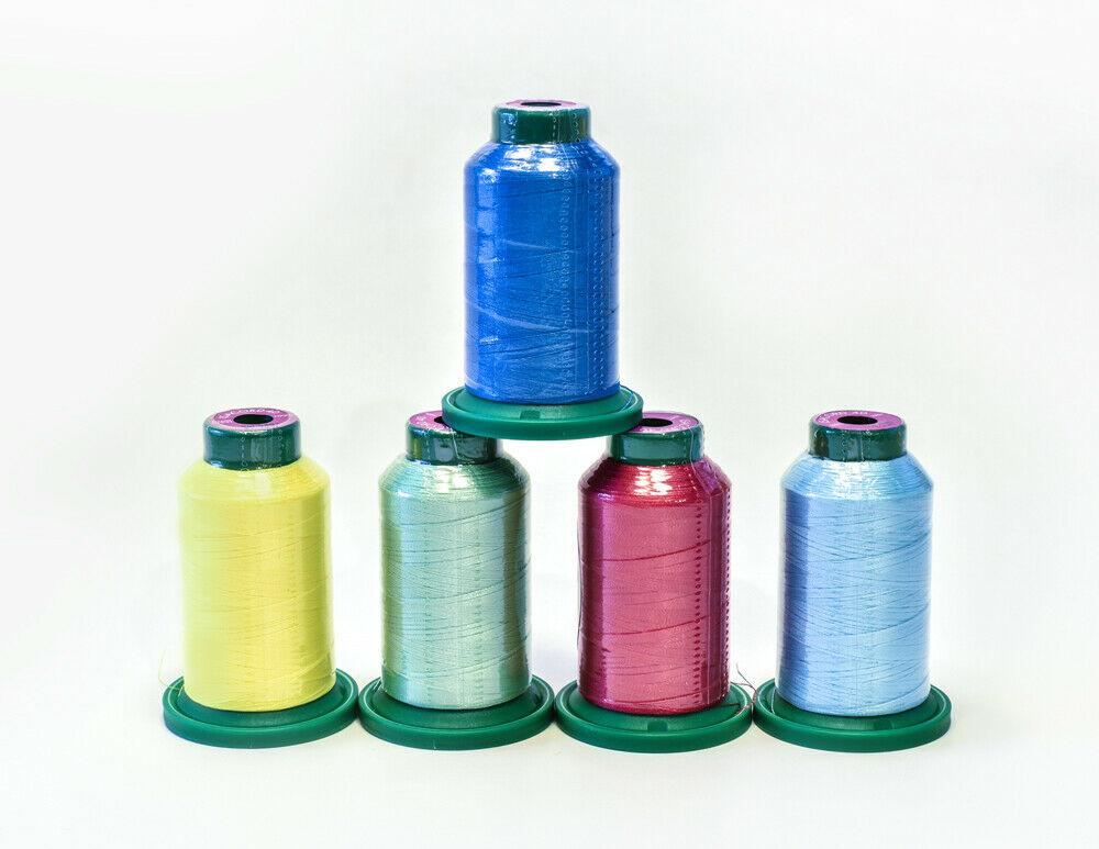 ISACORD POLYESTER THREAD 1000m SUMMER KIT  (5) SPOOLS