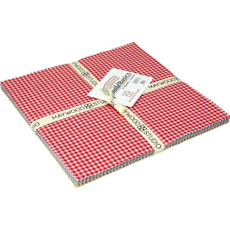 Beautiful Basics Classic Check Fabric 10 Squares by Maywood Studio (42 pieces)
