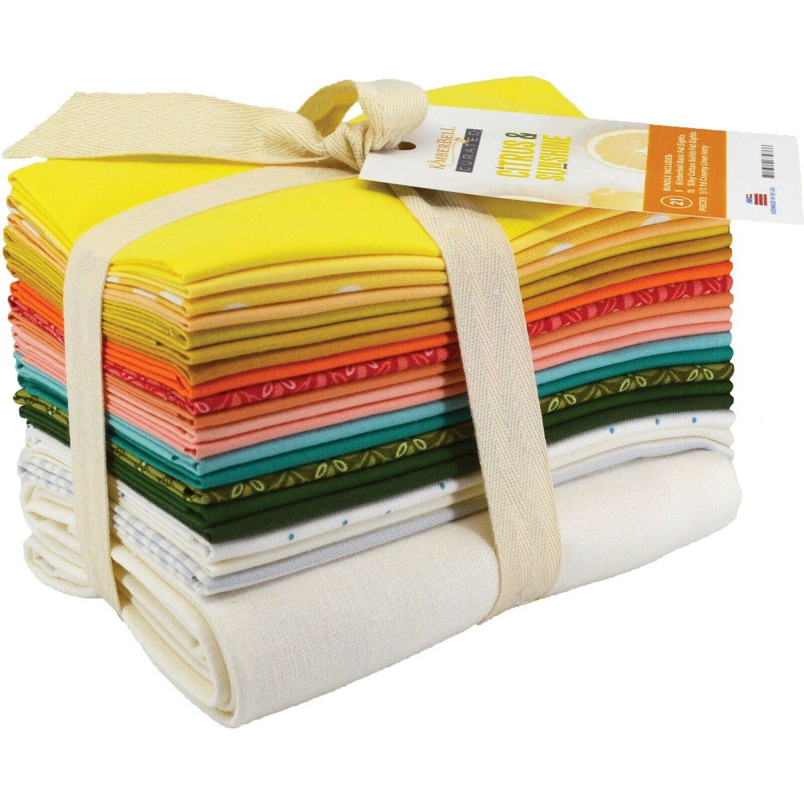 Citrus & Sunshine Fat Eighths Fabric Bundle (21 pieces) by Maywood Studio