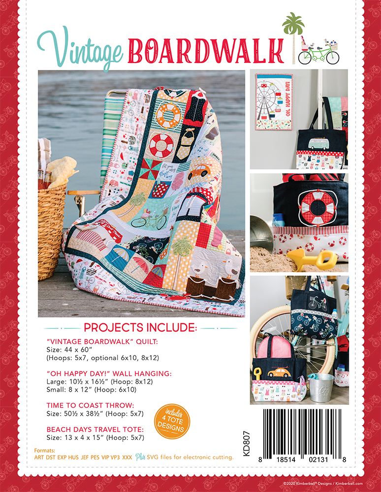 VINTAGE BOARDWALK ME CD Project Book by Kimberbell