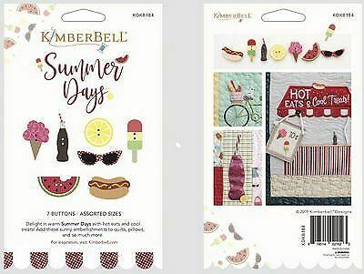 Summer Days Buttons by Kimberbell 7 Buttons