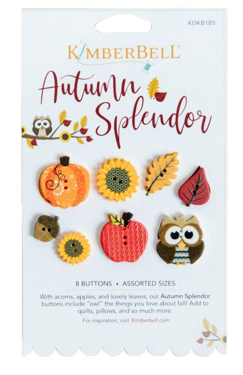 AUTUMN SPLENDOR BUTTONS BY KIMBERBELL (8 buttons)