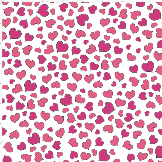 MINI HEARTS FABRIC WHITE by Loralie Designs SOLD BY YARD ONLY