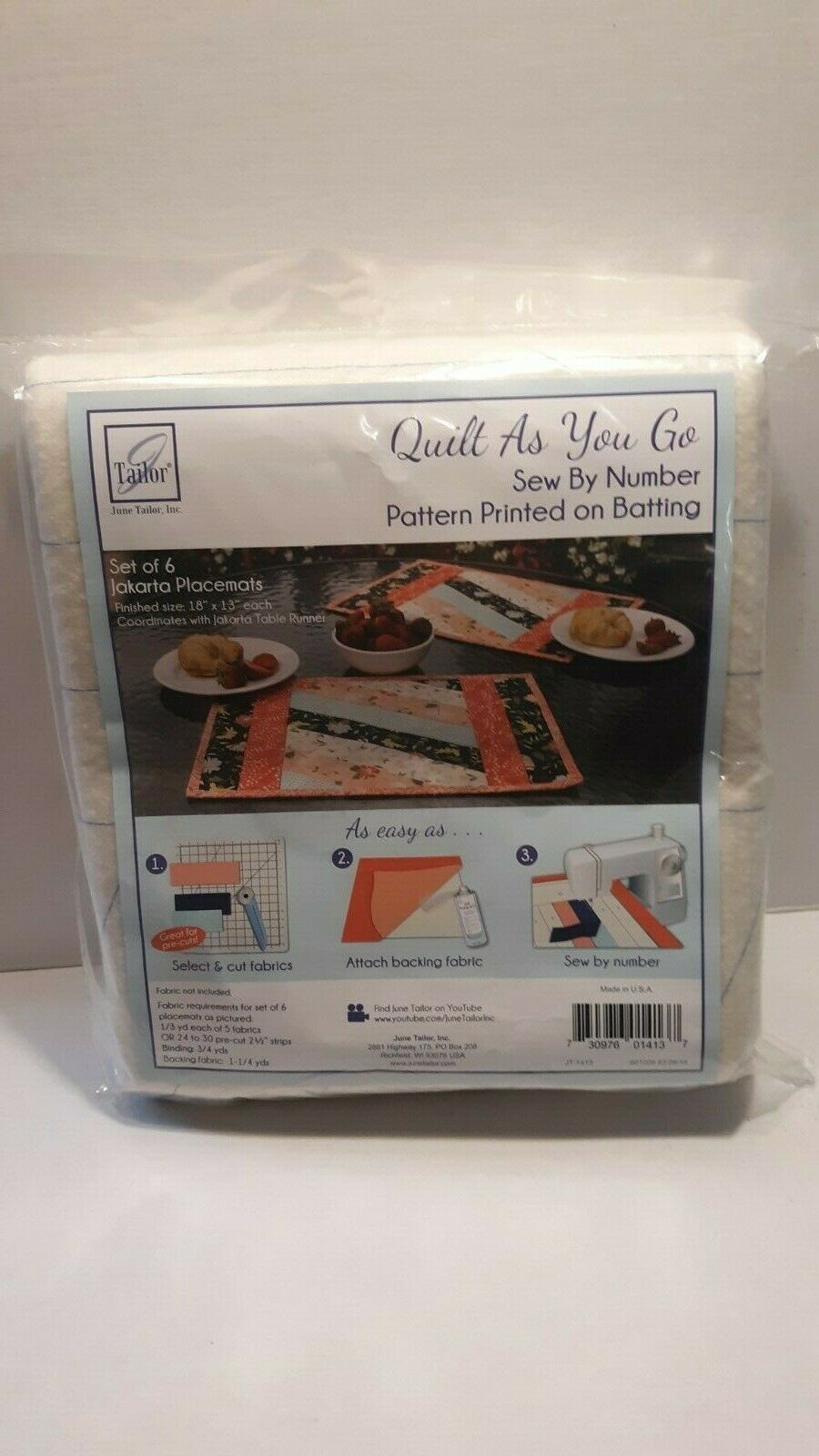 Quilt As You Go Placemats by June Tailor