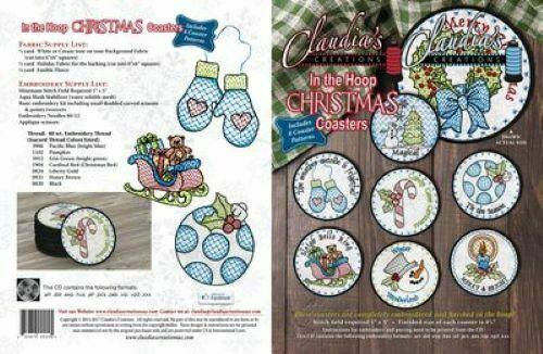 Claudia's Creations Christmas Coasters ITH
