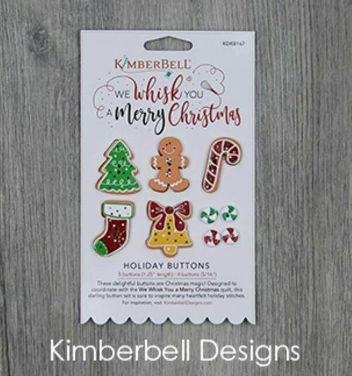 WE WHISK YOU A MERRY CHRISTMAS HOLIDAY BUTTONS by KIMBERBELL