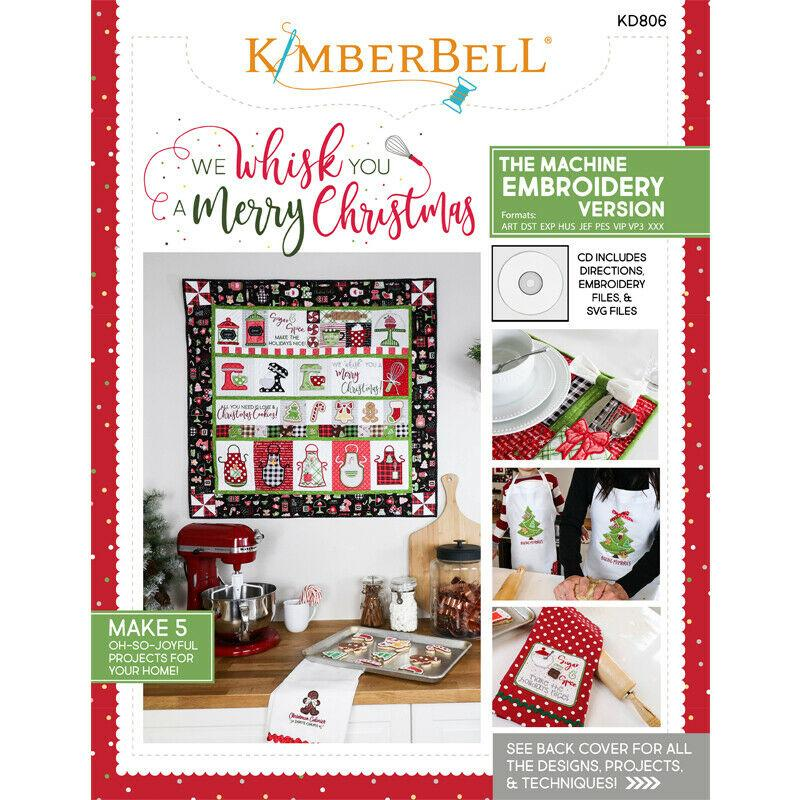 WE WHISK YOU A MERRY CHRISTMAS MACHINE EMBROIDERY(ME) CD by KIMBERBELL