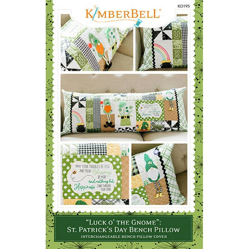 BENCH PILLOW ST PATRICK'S DAY 'LUCK O' THE GNOME BY KIMBERBELL SEWING VERSION
