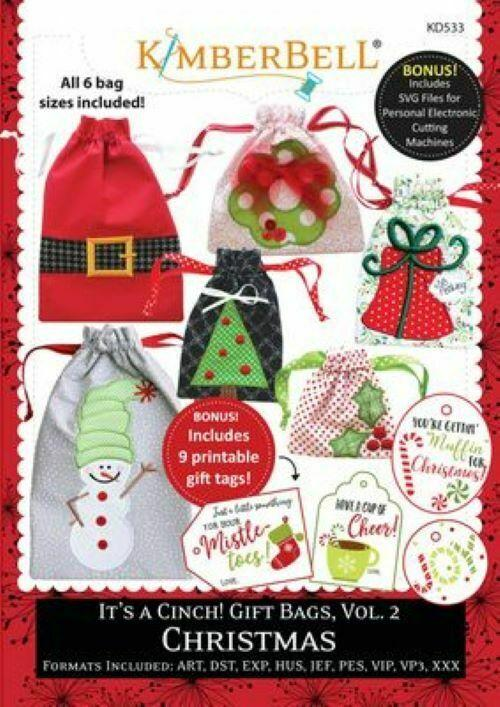 IT'S A CINCH! GIFT BAGS, VOLUME 2 CHRISTMAS by Kimberbell ME CD