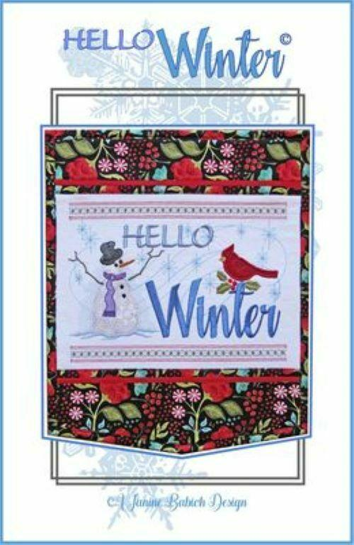 HELLO WINTER WALL HANGING ME CD by Janine Babich Design