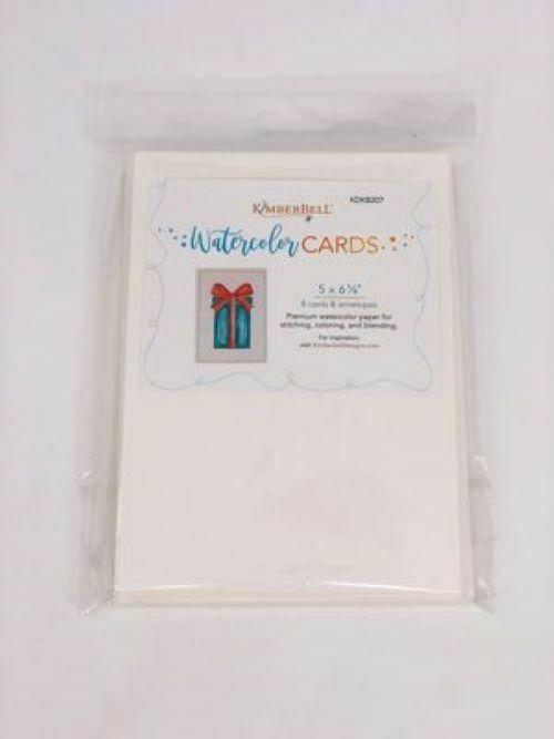 WATERCOLOR CARDS  by KIMBERBELL  8 cards/8 envelopes 5 x 6.75