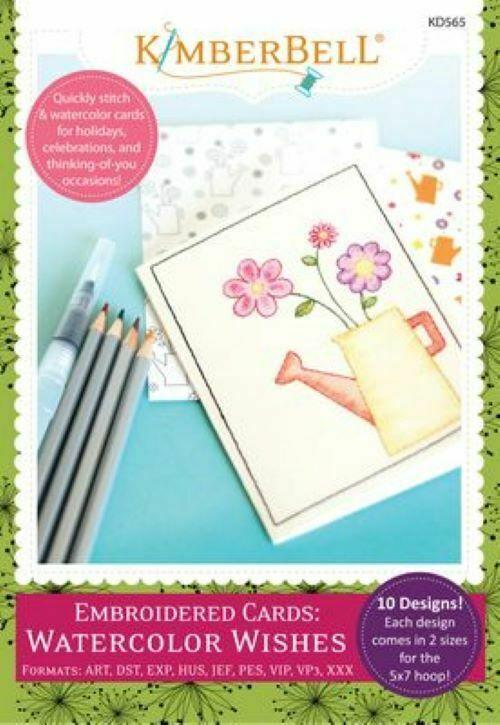 EMBROIDERED CARDS: WATERCOLOR WISHES by KIMBERBELL