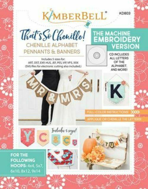 PENNANTS & BANNERS ME CD THAT'S SO CHENILLE ALPHABET  by KIMBERBELL