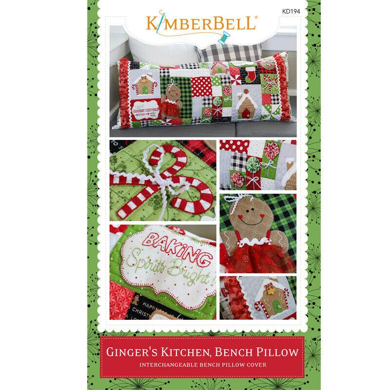 BENCH PILLOW GINGER'S KITCHEN ME CD by Kimberbell