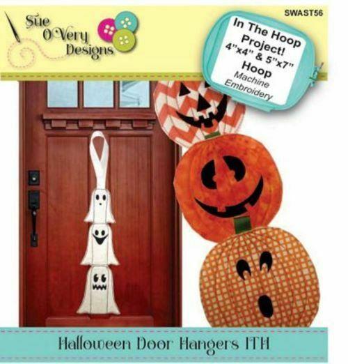 HALLOWEEN DOOR HANGERS IN THE HOOP ME CD
