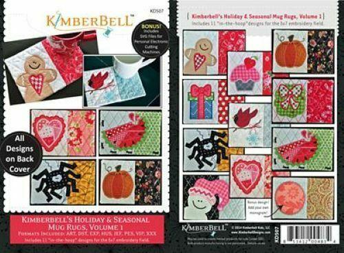 HOLIDAY & SEASONAL MUG RUGS VOLUME 1, by Kimberbell Designs
