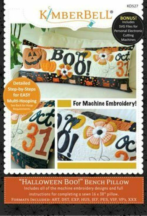 HALLOWEEN BOO! Bench Pillow by KimberBell Designs ME CD